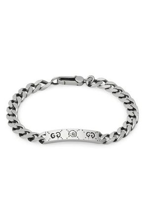 Gucci Silver Ghost Chain ID Bracelet | Nordstrom