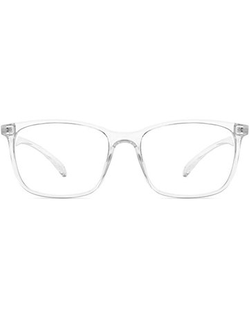 Amazon.com: ANRRI Computer Glasses for Blue Light Blocking, Anti Eyestrain Anti Glare Lightweight Frame for Screen Eyeglasses, Transparent, Men/Women: Clothing