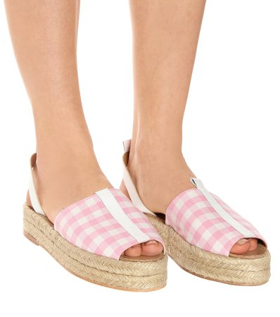 Gingham Platform Espadrilles | Dodo Bar Or - mytheresa