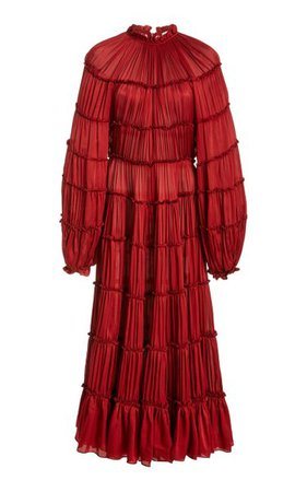 Silk Tiered Midi Dress By Zimmermann | Moda Operandi