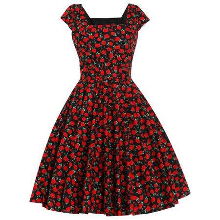 Floral Dress Christmas Dress Red Poppy Dress Thanksgiving | Etsy