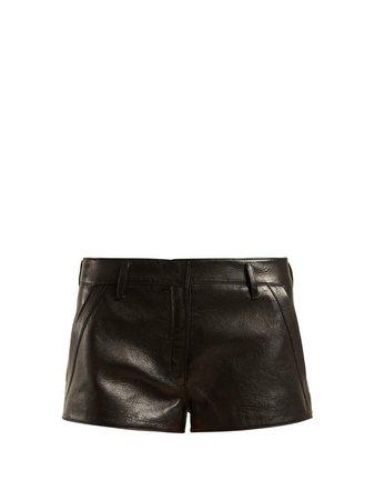 Leather hot pants | Saint Laurent | MATCHESFASHION.COM