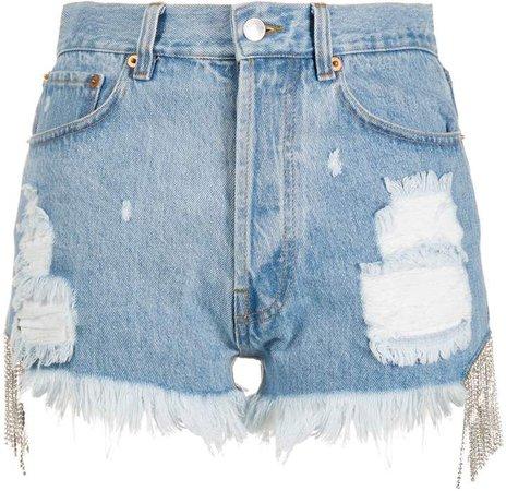 Forte Dei Marmi Couture Crystal-Embellished Denim Jeans