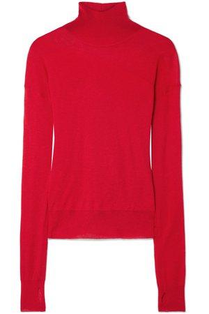 Helmut Lang   Wool and silk-blend turtleneck sweater   NET-A-PORTER.COM