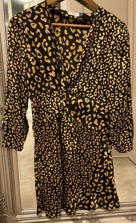 leopard black gold rixo dress