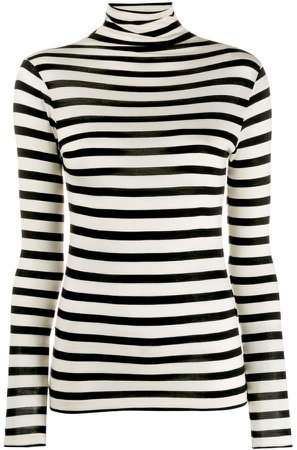 Semicouture stripe roll-neck top