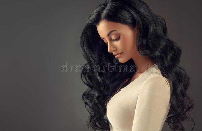 long wavy black hair - Google Search