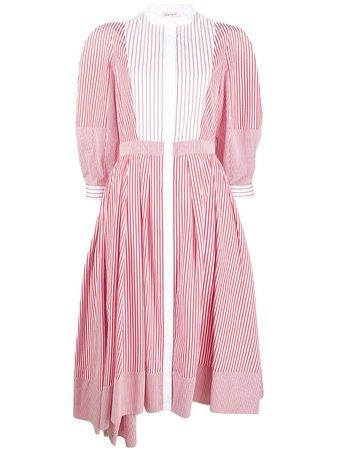 Alexander McQueen Asymmetric Striped Dress - Farfetch