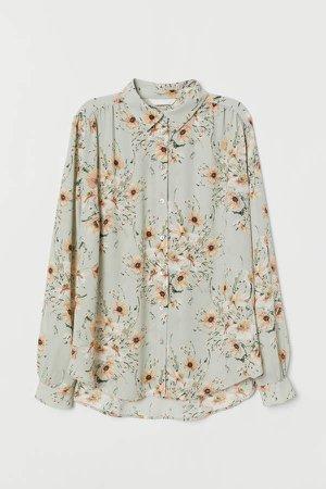 Long-sleeved Blouse - Green