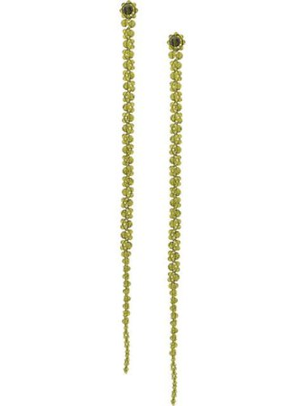 Green Simone Rocha crystal beaded drop earrings - Farfetch