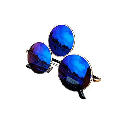 Amazon.com: Trippy Lights Third Eye Sunglasses Polarized Reflective Mirrored Dark Blue Lens: Gateway