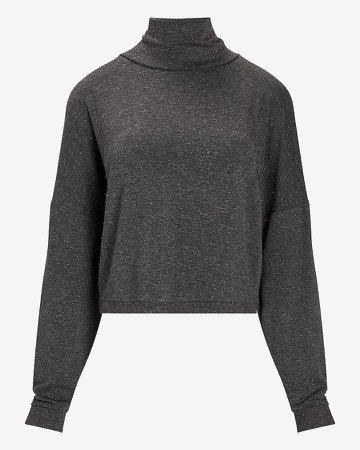 Metallic Mock Neck Sweatshirt