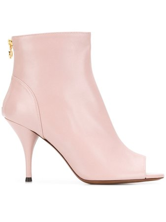 L'Autre Chose Pink Leather Ankle Boots | ModeSens