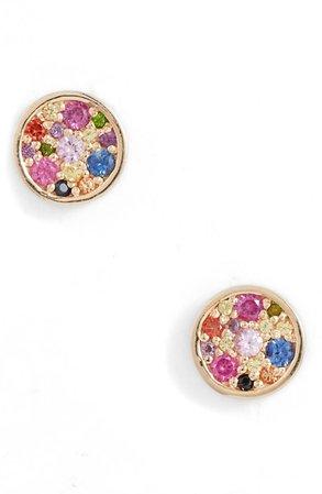 Anzie Love Rainbow Circle Stud Earrings | Nordstrom