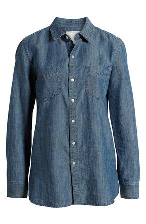Caslon® Chambray Shirt blue