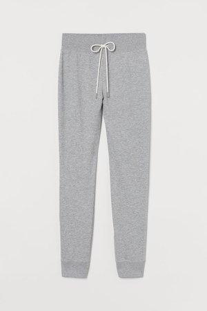 Cotton-blend Joggers - Gray