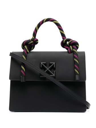 Shop black Off-White 2.8 Gummy Jitney tote bag with Express Delivery - Farfetch