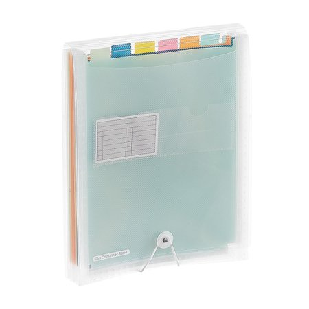 Rainbow 7-Pocket Accordion Letter File   The Container Store