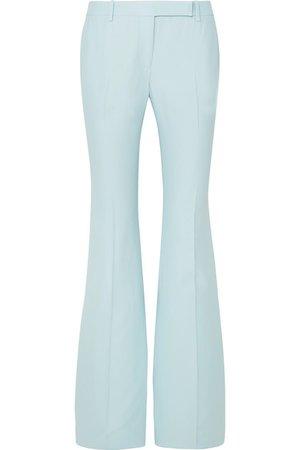 Alexander McQueen | Crepe flared pants | NET-A-PORTER.COM