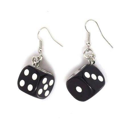 pair of dice earrings