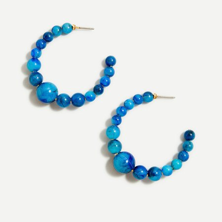 J.Crew: Beaded Hoop Earrings For Women