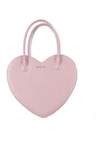 pink heart purse bag