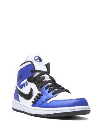 Shop blue Jordan Air Jordan 1 Mid sneakers with Express Delivery - Farfetch