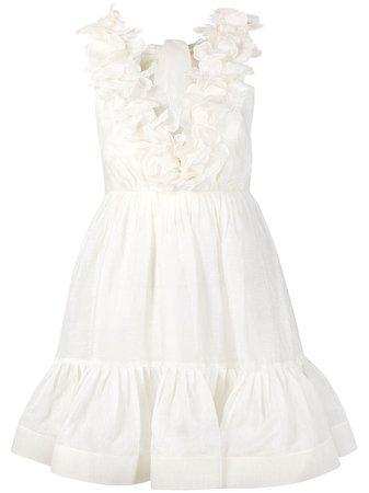 Zimmermann, ruffled flared sleeveless dress