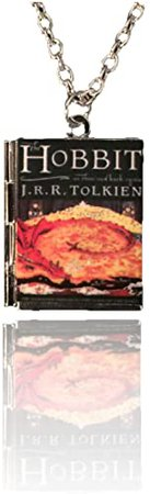 Amazon.com: Di Capanni The Hobbit Tiny Book Charm, and Locket Necklace. JRR Tolkien: Jewelry