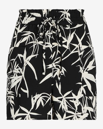 High Waisted Soft Printed Pull-on Pocket Shorts | Express