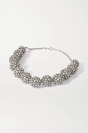 Silver Silver-tone crystal necklace | Isabel Marant | NET-A-PORTER
