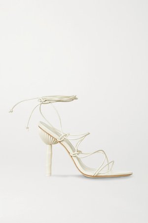 Soleil Leather Sandals - White