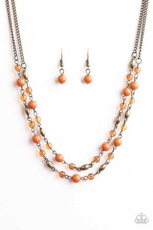 autumn maple bead earrings - Google Search