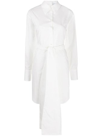 MSGM Bow Detail Shirt Dress - Farfetch