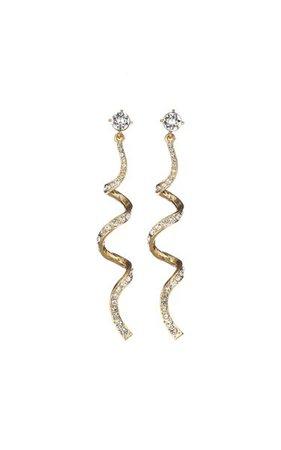 14k Gold-Plated Serpentine Earrings By Oscar De La Renta | Moda Operandi