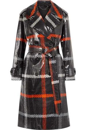 Marc Jacobs | Checked coated-cotton trench coat | NET-A-PORTER.COM
