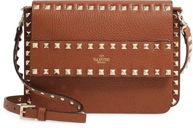 Small Rockstud Leather Shoulder Bag