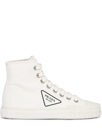 Prada Logo high-top Sneakers - Farfetch