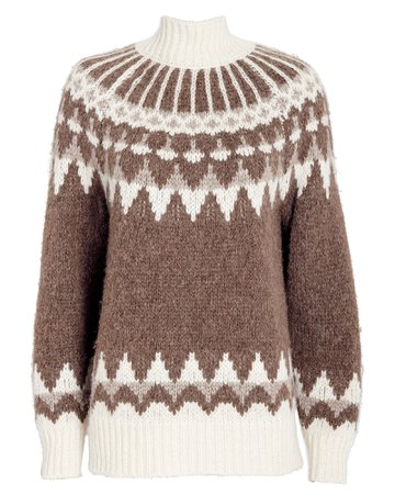 FRAME | Fair Isle Turtleneck Sweater | INTERMIX®