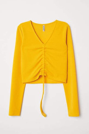 Top with Drawstring - Yellow
