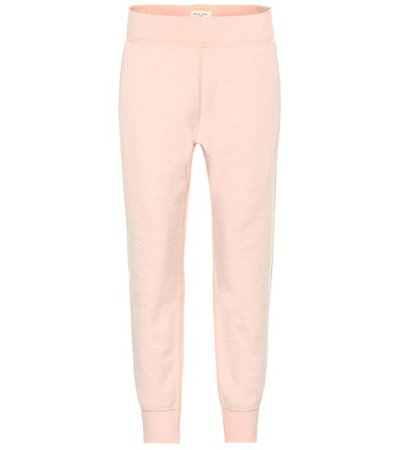 Cotton-blend terry trackpants