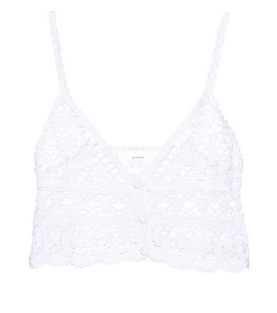 Bianca crocheted cotton crop top