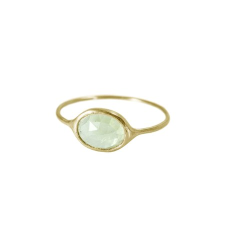 Light Green Tourmaline Ring in Solid 18K Gold – The Golden Cleat