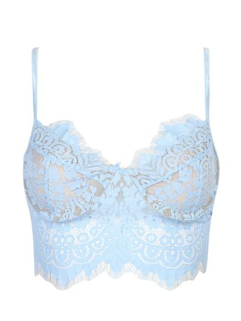 baby blue top cropped lace - Google Search