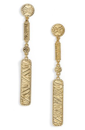 gorjana Cobra Linear Drop Earrings | Nordstrom