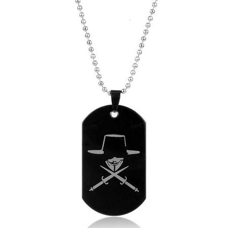 V For Vendetta Mask Statement Necklace Stainless Steel Dog Tags Pendants Necklaces for Men Women -in Chain Necklaces from Jewelry & Accessories on Aliexpress.com | Alibaba Group