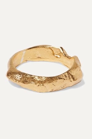 Gold The Edge Of The Abyss gold-plated ring | Alighieri | NET-A-PORTER