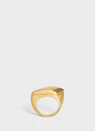 Chaîne Triomphe large ring in brass with vintage gold finish - Vintage Gold - Official website | CELINE