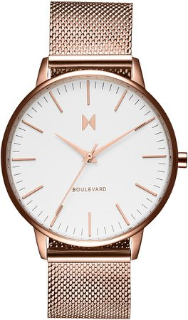 Malibu Boulevard Mesh Strap Watch, 38mm