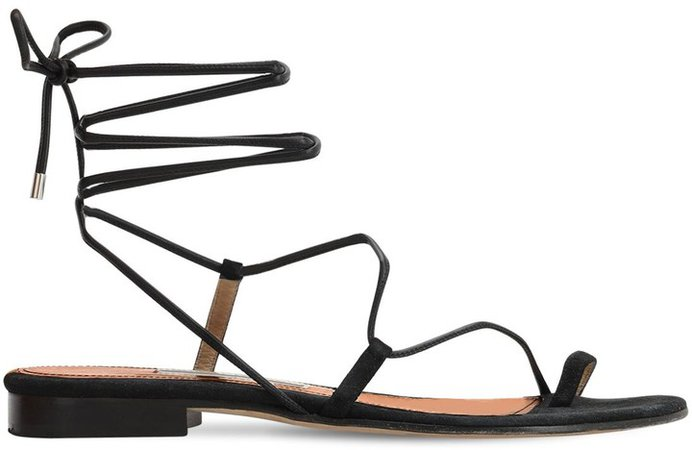 10mm Susan Leather Thong Sandals